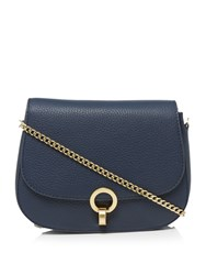 Dickins And Jones Harri Twist Lock Crossbody Bag Navy