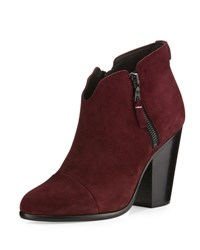 Rag And Bone Margot Suede Ankle Boot Burgundy Suede