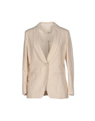 Gold Case Suits And Jackets Blazers Women Beige