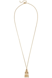 J.Crew Gold Plated Crystal Necklace