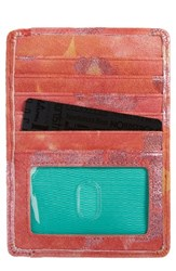 Hobo Women's 'Euro Slide' Credit Card And Passport Case Yellow Sunrise Floral
