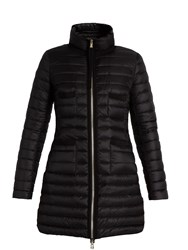 Moncler Bogue Quilted Down Coat Black