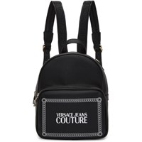Versace Jeans Couture Black Small Square Logo Backpack