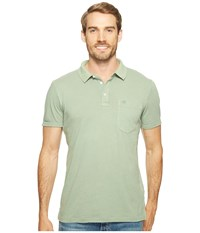 Timberland Short Sleeve Ashuelot River Cotton Linen Polo Lily Pad Men's Clothing Green