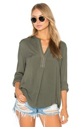 Three Dots Hadley Blouse Olive