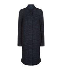 Eileen Fisher Long Textured Jacket Female Blue