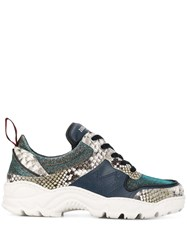 Zadig And Voltaire Blaze Contrast Print Sneakers Silver