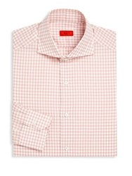 Isaia Plaid Regular Fit Dress Shirt Multicolor