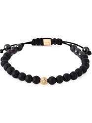 Shamballa Jewels Diamond Beaded Bracelet Black