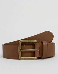 Asos Wide Belt In Brown Faux Leather Brown