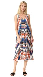 Edun Multi Stripe Hankerchief Dress