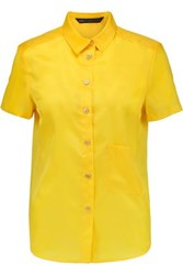 Marc By Marc Jacobs Satin Twill Top Yellow