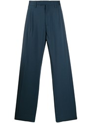 Off White Oversized Suit Trousers Blue
