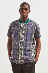Urban Outfitters Uo Pique Polo Shirt Purple Multi