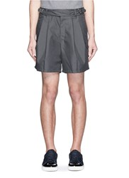 Kolor Floral Embroidered Belted Shorts Grey