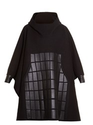 Y 3 Oversized Hooded Poncho Sweater Black