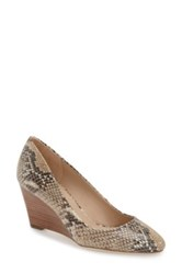 Via Spiga Pamina Wedge Pump Beige