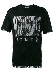Mcq By Alexander Mcqueen Lace Detail T Shirt Men Cotton Polyamide L Black