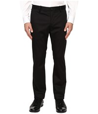 Vince Cotton Sateen Urban Trousers Black Men's Casual Pants