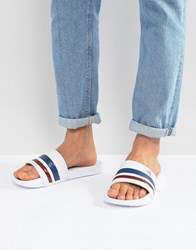 Original Penguin Retro Stripe Sliders Navy Blue