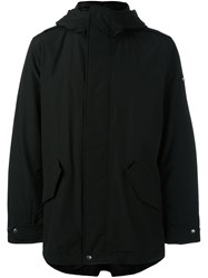 Woolrich Hooded Short Coat Black