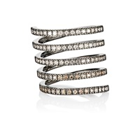 Mixed Diamond Spiral Ring