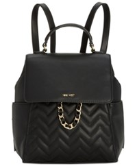 Nine West Tulip Quilted Small Backpack Black