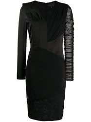 Philipp Plein Panelled Fitted Dress 60