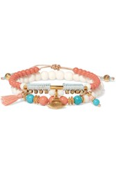 Chan Luu Set Of Two Gold Tone Coral