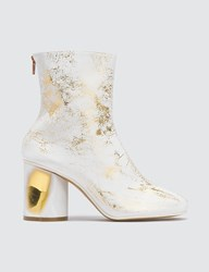 Maison Martin Margiela Crushed Heel Leather Boots White