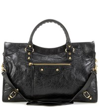 Balenciaga Classic City Leather Tote Black