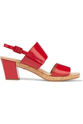 Roger Vivier Patent Leather Sandals Red