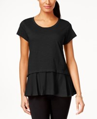 Styleandco. Style And Co. Petite Layered Look Peplum T Shirt Only At Macy's