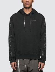 Off White Diagonals Unfinished Slim Hoodie Black