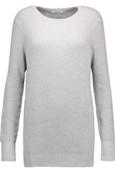 Equipment Rei Ribbed Cotton And Cashmere Blend Sweater Gray