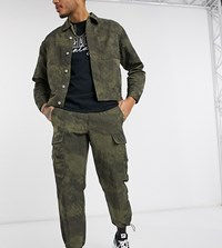 Reclaimed Vintage Inspired Casual Trousers In Washed Khaki Green