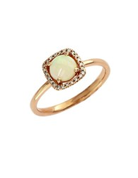 Effy 14K Rose Gold Opal And Diamond Ring Opal Rose Gold
