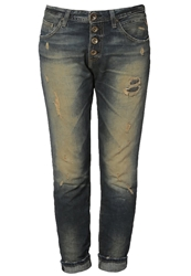 Replay Pilar Relaxed Fit Jeans Stone Blue Laserblast Injection