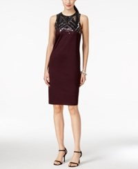 Spense Petite Sequin Yoke Shift Dress