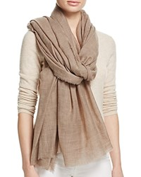 Yarnz Solid Lightweight Scarf Natural