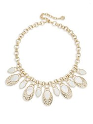 Design Lab Lord And Taylor Mother Of Pearl Crystal Multi Drop Necklace Gold