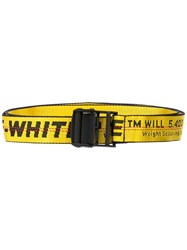 Off White Logo Industrial Belt Yellow