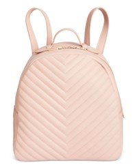 Steve Madden Josie Quilted Small Backpack Blush