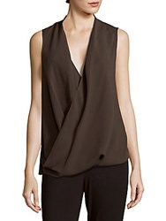 Lafayette 148 New York Gretchen Sleeveless Silk Top Granite