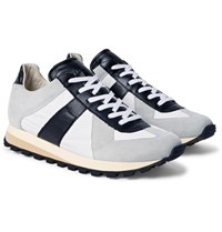 Maison Martin Margiela Suede Leather And Shell Sneakers Gray