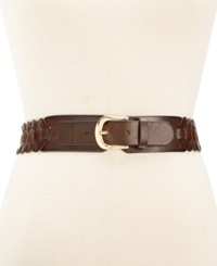 Style And Co. Braided Stretch Belt Brown