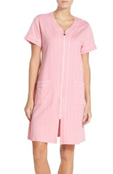 Eileen West Women's Front Zip French Terry Robe