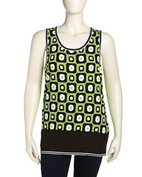 Berek Sequined Mod Print Knit Tank Women's
