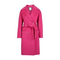 Kenzo Cocoon Belted Coat Rose Begonia