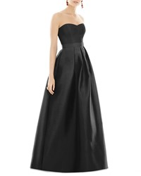 Alfred Sung Strapless Sweetheart A Line Gown Black
